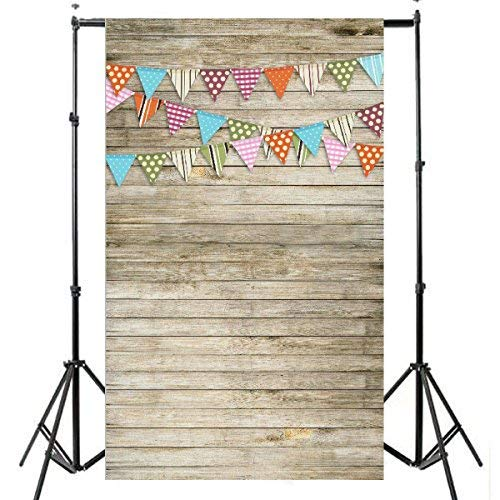 FUT Wooden Theme Photography background Vinyl Cloth Backdrop(Updated Material)]()