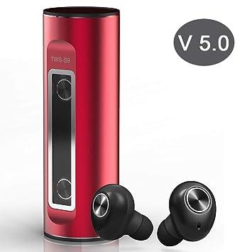 Auriculares Inalámbricos Bluetooth 5.0 hasta 18H Reproducción 3D Sonido Estéreo & Micrófono Interno Resistente al Sudor