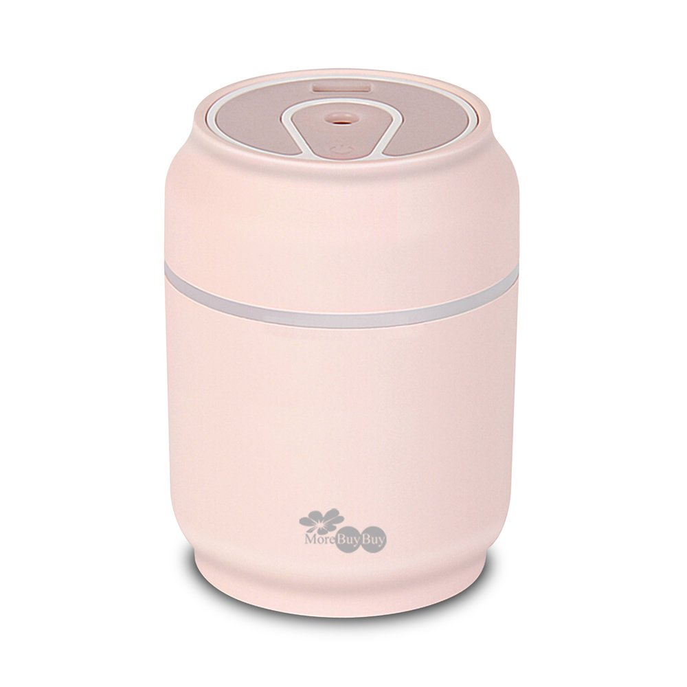 Novel Air Humidifier Convinient Humidifiers Cleaner with Superior Humidifying Unit,Automatic Shut Off, Night Light Function,Fan Function,USB Power and 8 Hours Operating Time for Bedroom by MoreBuyBuy