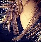 LOSOUL Adjustble Necklace Simple Design Circle Form Pendant Delicate Chocker,Gold