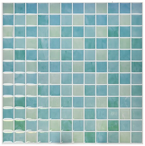 RoomMates Blue Mosaic StickTILES, 4-pack 10.5