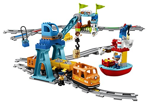 LEGO DUPLO Cargo Train 10875 Battery-Operated Building Blocks Set, Best Engineering and STEM Toy for Toddlers (105 Pieces) (Amazon Exclusive) by LEGO DUPLO Trains (Image #1)