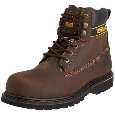 CAT Footwear - Botas de seguridad para hombres Holton SB - Marrón oscuro, Piel, 44
