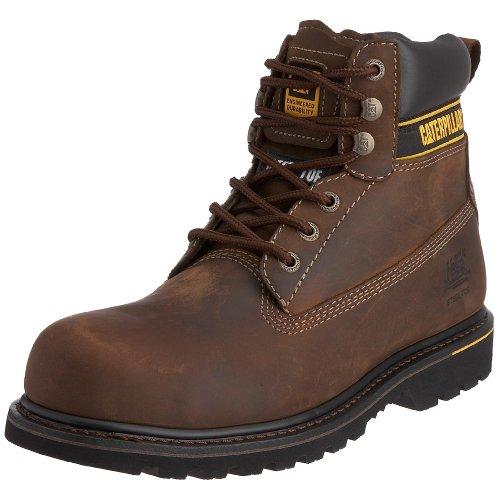 Cat Footwear Holton Sb, Herren Arbeits- und Sicherheitsschuhe S1, Braun (Dark Brown), 43