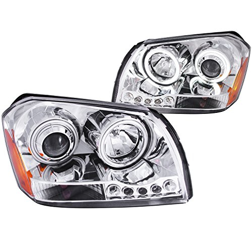 Anzo USA 121219 Dodge Magnum Chrome Clear Projectors Headlight Assembly - (Sold in Pairs)
