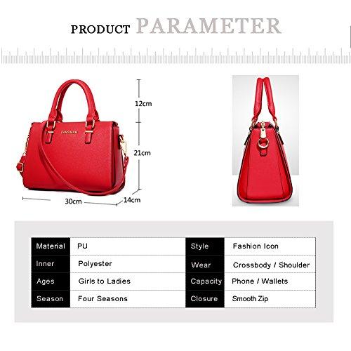 Sacchetti di borsa della traversa di Yoome per il favore del partito Borse della maniglia della parte superiore Sacchetti eleganti grandi per le donne - Rosa