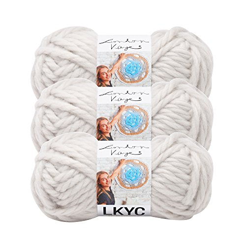 (3 Pack) Lion Brand Yarn 3000-150 London Kaye LKYC Yarn, Chain Link