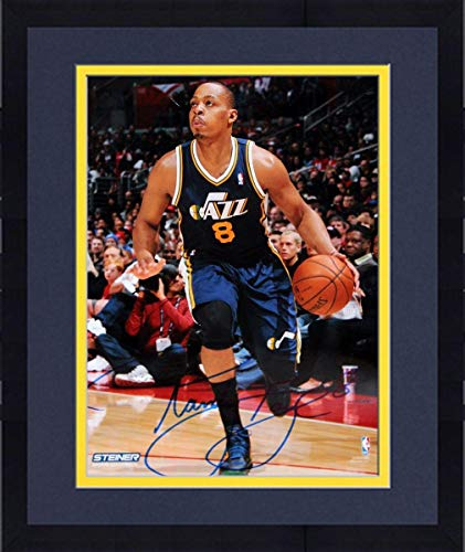 Framed Randy Foye Utah Jazz Drives Up Court Signed 8x10 Photo - Steiner Sports Certified - Autographed NBA Photos