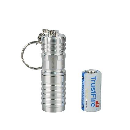Eingebaute Batterie enthalten TrustFire Mini 07 Mini Schl/üsselanh/änger Led Taschenlampe 100 Lumen EDC mit Mirco USB Wiederaufladbar Silber durch 1 x 10180 Li-ion Akku angetrieben