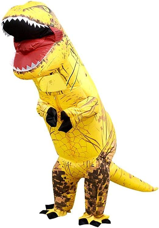 Foru-1 - Disfraz de dinosaurio inflable para niños (130-160 cm ...