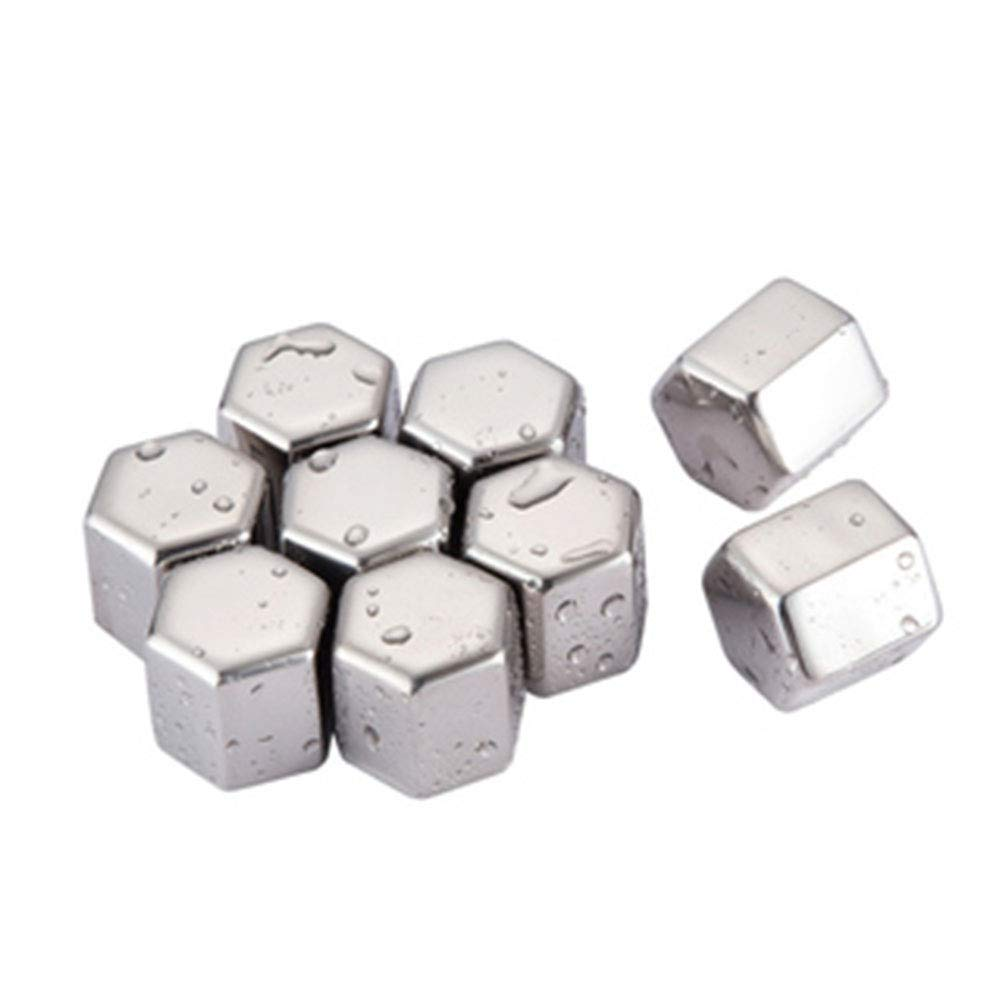 fang zhou Stainless Steel Reusable Ice Cubes, Cool Down Drink Fast Food Grade Odorless Non Porous, Suitable for Coffee Family Beer Party Use by fang zhou
