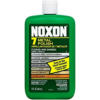 Noxon 7 Liquid Metal Polish, 12 fl oz Bottle for Brass, Copper, Stainless, Chrome, Aluminum, Pewter & Bronze