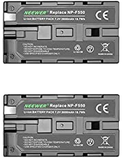 Neewer® (2Pack) 2600mAh Sony NP-F550/570/530 Replacement Battery for Sony HandyCams, Neewer Nanguang CN-160,CN-216,CN-126 Series and Other LED On-Camera Video Lights Which Using NP-F550