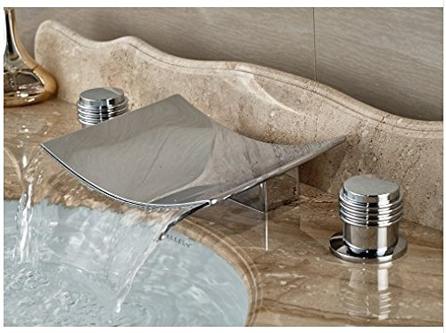 7 Faucet Finishes For Fabulous Bathrooms: Gowe Double Knobs Bathroom Sink Faucet Widespread 3pcs