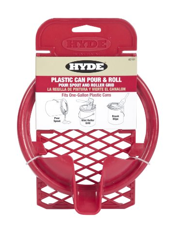 Hyde 45161 Plastic Can Pour and Roll, Pour Spout and Roller Grid, Fits 1 Gallon (1 Gallon Grid)