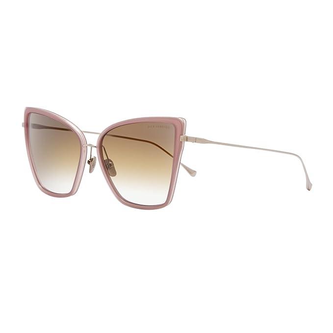 c94955a7bb01 Dita Sunbird Sunglasses 21013C 18K Rose Gold Frame Dark Brown Gold Flash  Lens  Dita  Amazon.ca  Clothing   Accessories