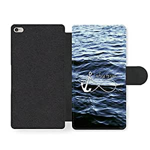 I Refuse to Sink Infinity Anchor Hipster Ocean Quote Style Funda Cuero Sintético para iPhone 6 Plus 6S Plus