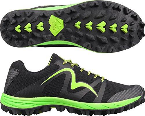 More Mile Zapatillas de Running de Malla Para Hombre Negro Negro 300x420mm, Color Negro, Talla 45 EU