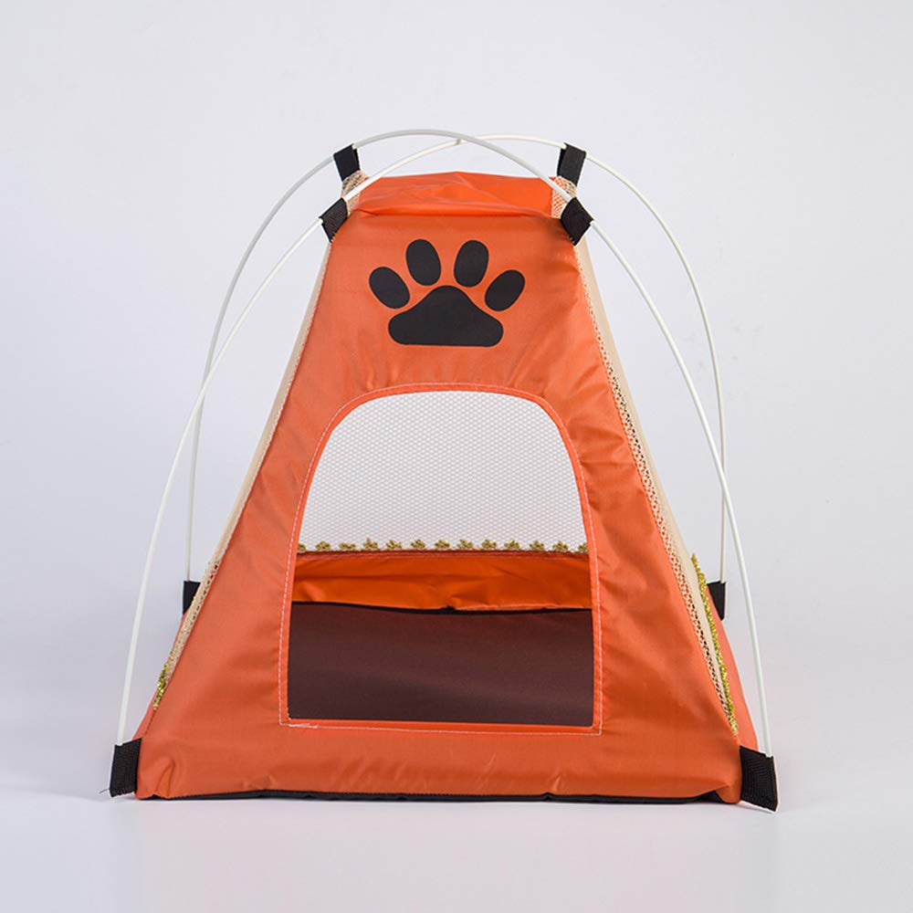 orange Pet Tent, Pet Supplies Cartoon Pet Nest Summer Kennel Cat Litter Creative Pet Tent House,orange