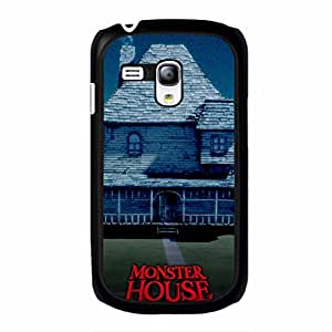 Samsung Galaxy S3 Mini Phone Case, Retro Fashional Building Comedy Movie Series Monster House Phone Case Cover Cartoon Popular