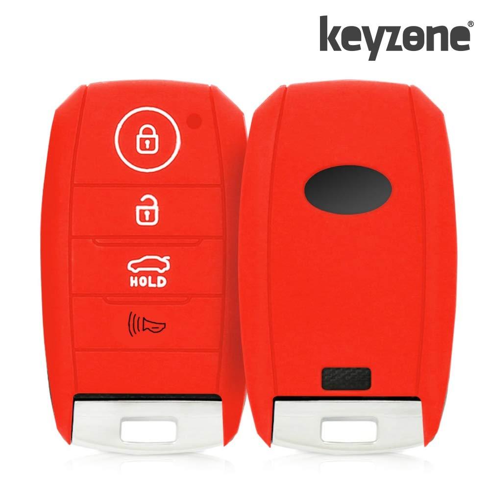 Kia Seltos Silicone Key Cover for Kia Seltos Smart Key (Push Button Start Models) (Red)
