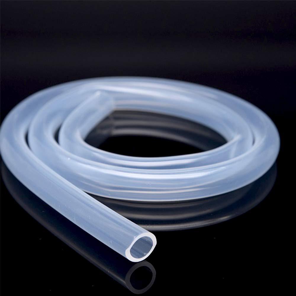 1 Metros Tubo Silicona 2 mm Di/ámetro Interior x 4 mm Di/ámetro Exterior Manguera de Silicona Flexible Grado Alimenticio de Silicona Transparente para Hacer Cables Cables Cables de Plomo