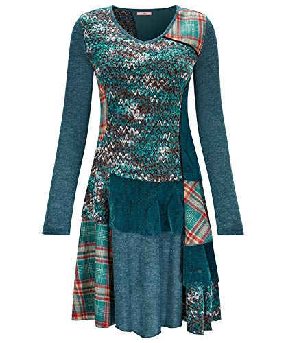 Kleid Joe Saum Blau am Browns mit Damen Volants OfqEwafzx