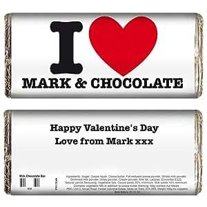 Flipmycover 'I en forma de corazón' de tableta de Chocolate - personalizada con diseño de raquetas de cualquier - Great Ideas para San Valentín - cumpleaños - boda - con texto en inglés