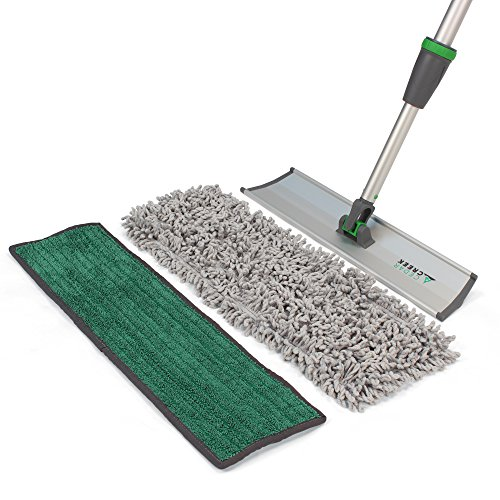 Cedar Creek Cleaning Products DFK16-EXH72-01 Industrial Microfiber Kit Includes Both 18 Microfiber Dust Mop Pad and 18 Premium Green Damp Mop Pad