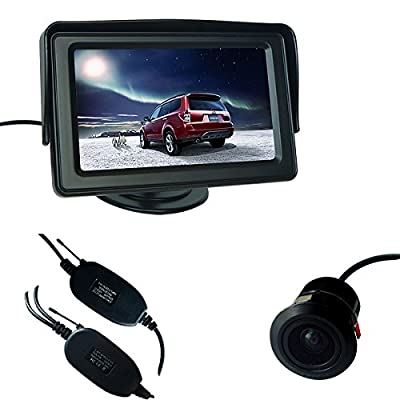 "Buyee Car Rear View Kit 4.3"" TFT LCD Monitor + Wireless Car Reversing Camera from The Rear View Camera Center"