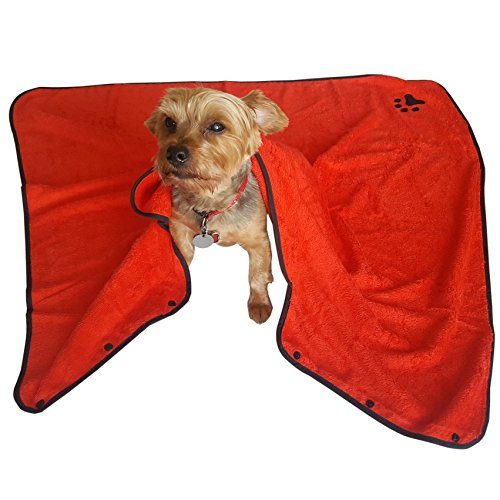 Pet Hooded Towel, Super Soft 500 GSM Bamboo Fiber, Highly Absorbent, Fast Drying, Eco Friendly, Cute, Easy to wear Bath Towel