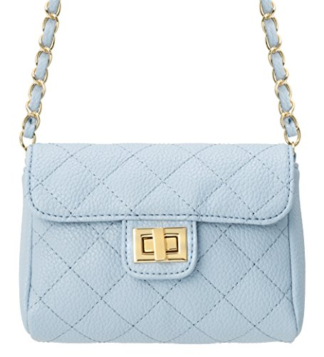 M&c Women's | Quilted Faux Leather Handbag (Baby Blue)