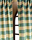 Faux silk dupioni checks lined rod pocket curtain/panel (52″W X120″L) Review