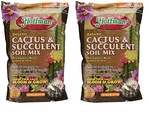 Hoffman 10410 Organic Cactus and Succulent Soil Mix, 10 Quarts (1, 2-Pack)