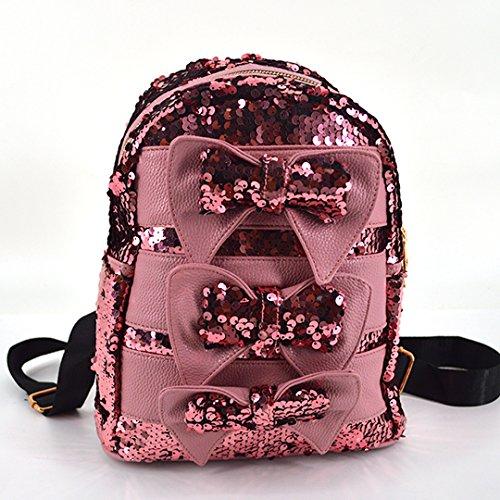 Meliya - Bolso mochila  para mujer, plata (plateado) - FS-bb-01280-02YA rosa
