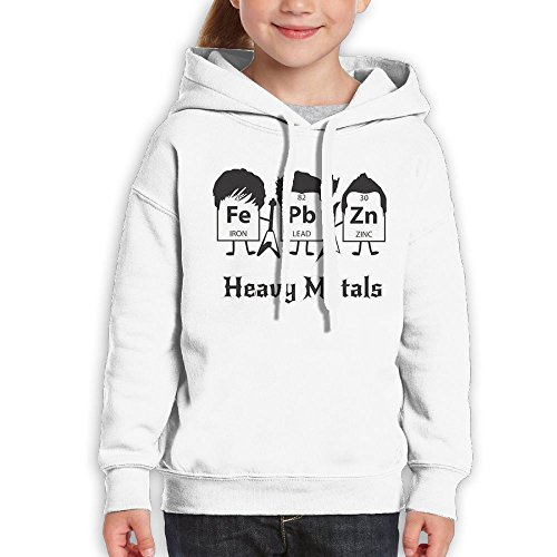 FDFAF Teenager Youth Heavy Metals Periodic Table Science And Nerd Hip Hop Classic Hoodie Hoodies XL White - Willy Wonka White Glasses