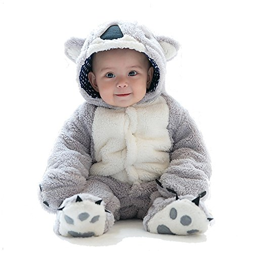 MagicQK Baby Jumpsuit, Infant Costume Toddler Christmas Soft Outfit from Newborn to 18 Months (6-12M/26, (Baby Koala Outfit)
