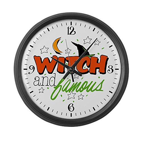 [Large Wall Clock Halloween Witch and Famous Hat] (Famous Black People Halloween Costumes)