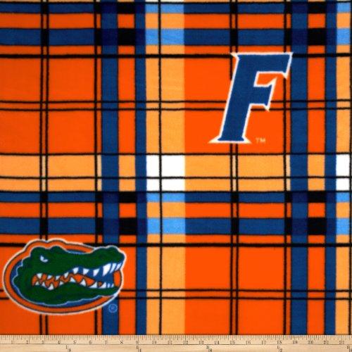 Sykel Enterprises Collegiate Fleece University of Florida Plaid Orange/Blue Fabric by The Yard - Orange Collegiate Stadium Seat