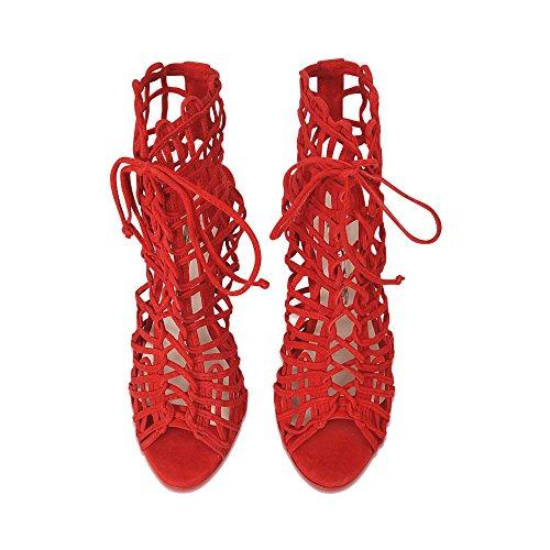 Webster Sophia Sandalias Vestir para Rojo Mujer de gadZwq