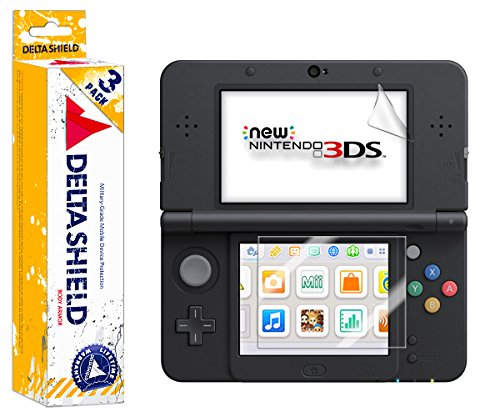 New Nintendo 3DS Screen Protector (2015 Standard Version)[3-Pack], DeltaShield BodyArmor Full Coverage Screen Protector for New Nintendo 3DS Military-Grade Clear HD Anti-Bubble Film