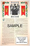 BOFFEY – Armorial Name History & Coat of Arms Scroll – 11 x 17 inches (A3) – Family Crest -…