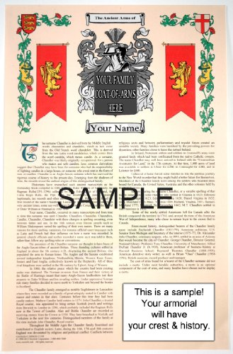 Searles - Armorial Name History & Coat of Arms Scroll - 11 x 17 inches (A3) - Family Crest - Genealogy - Heraldry - Heraldic