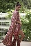 Red Plus Size Kimono, Chinese Holiday Kimono Robe, Wrap Long Tribal Stylish Robe, Oversized Unisex Boho Kimono, Festival Wear