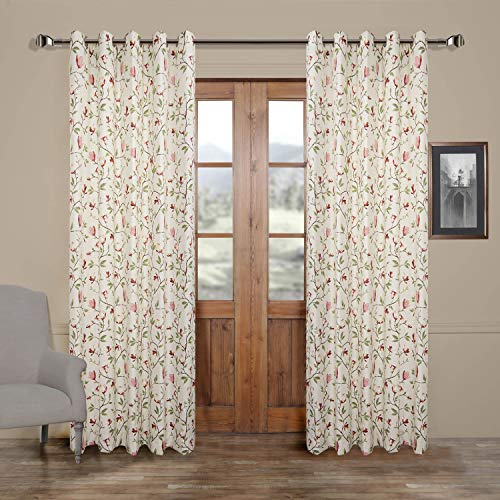 Cheap 50″W x 96″L (Set of 2 panels) Multi Size Available Custom Modern Country Rustic Floral Branches Cotton Polyester Blend Print Grommet Top Energy Efficient Window Treatment Draperies & Curtains Panels