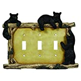 River's Edge Products Bear Triple Switch Electrical Cover Plate