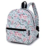 Lily & Drew Lightweight Canvas Travel School Backpack for Women Girls Teens Kids