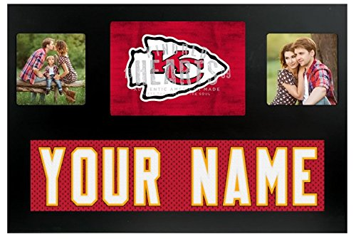 (Kansas City Chiefs NFL Custom Jersey Nameplate and Logo Picture Frame)