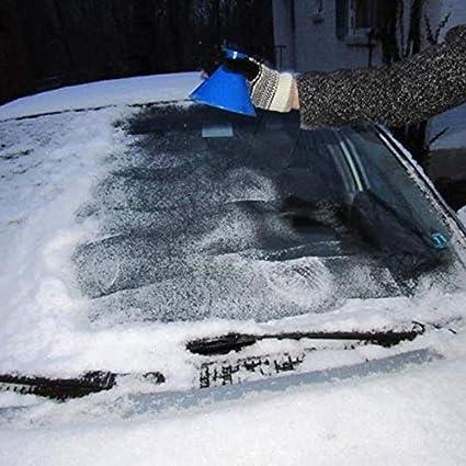kangOnline Portable Voiture Pare-Brise De La Givre Glace Remover Racloir Outil De C/ône en Forme de Entonnoir Automobile Verre Neige Remover Outil