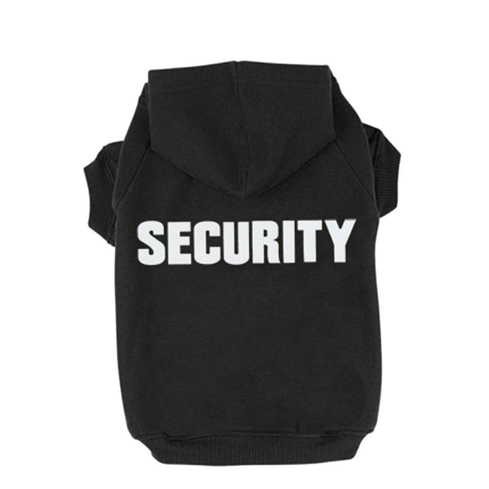 Rdc Pet Security Dog Hoodies, Apparel Autumn & Winter Sweatshirt Warm Sweater, Cotton Jacket Coat for Samll Dog & Medium Dog & Cat (Black) (XXXL)